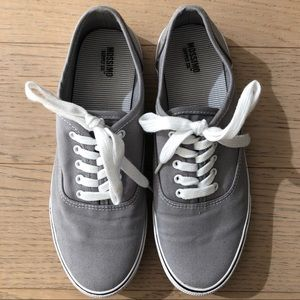 Mossimo Supply Co Grey Lace Up Canvas Sneakers